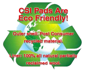 CSI Saddle Pads are Eco Friendly | Made of Recycled material and will all natural partially reclaimed wool