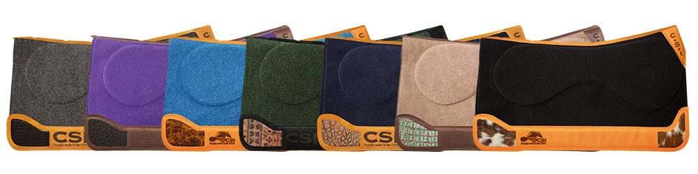 CSI Saddle Pads Custom Inlay Options - Call to Order your own today