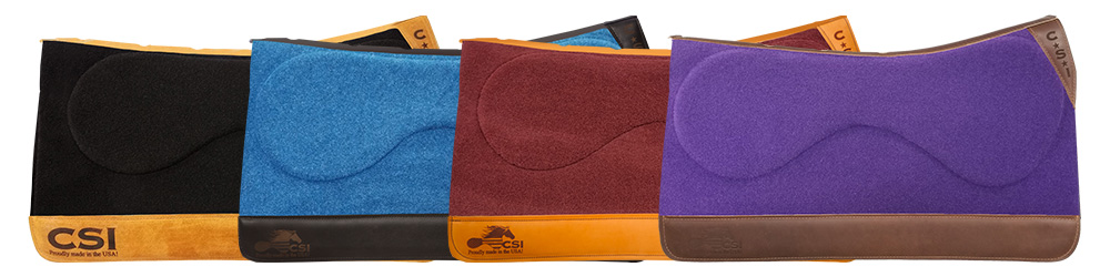CSI Saddle Pads Standard Western Cut | Click to order your own saddle pad today!