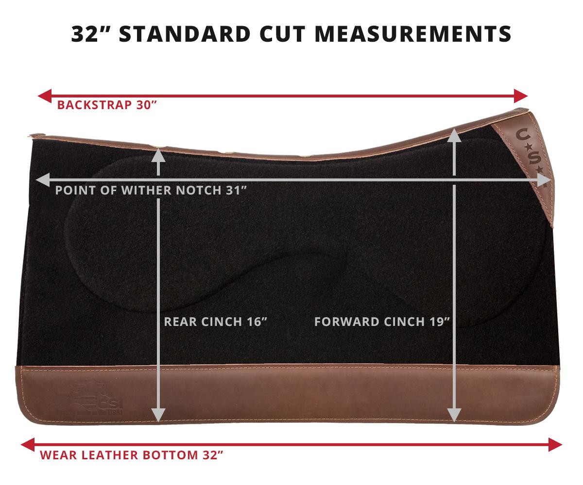 "Standard Cut Measurements - 32"""
