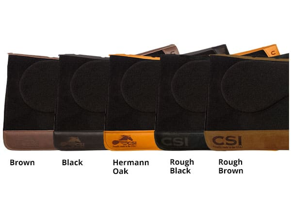 CSI Saddle Pads Wear Leather Options