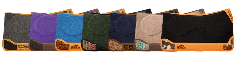 CSI Saddle Pad Western Cut Custom Inlay Options